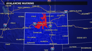 Avalanche Warning - Colorado spring season!