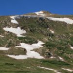 glacial snow in July - BIG smile :)